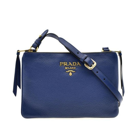 Prada Vitello Phenix Blue Bluette Leather Cross Body Bag 1BH046 at_Queen_Bee_of_Beverly_Hills