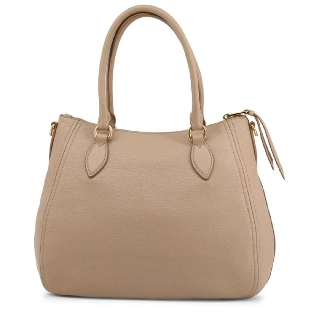 Prada Vitello Phenix Leather Convertible Zip Bag Cammeo Beige 1BC032 at_Queen_Bee_of_Beverly_Hills