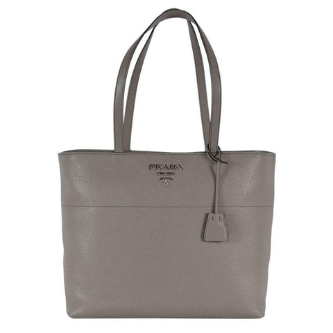 Prada Vitello Phenix Leather Shopping Tote Bag Argilla Gray 1BG203 at_Queen_Bee_of_Beverly_Hills