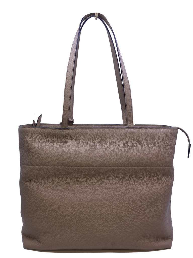 Prada Vitello Phenix Leather Shopping Tote Bag Cammeo Beige 1BG203 at_Queen_Bee_of_Beverly_Hills