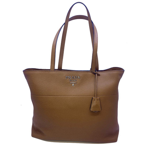 Prada Vitello Phenix Leather Shopping Tote Bag Cannella Brown 1BG203 at_Queen_Bee_of_Beverly_Hills