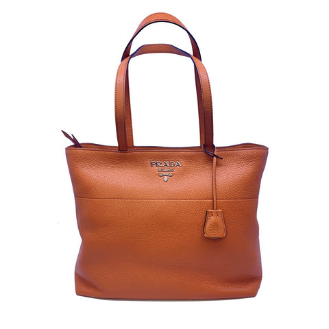 Prada Vitello Phenix Leather Shopping Tote Bag Papaya Orange 1BG203 at_Queen_Bee_of_Beverly_Hills