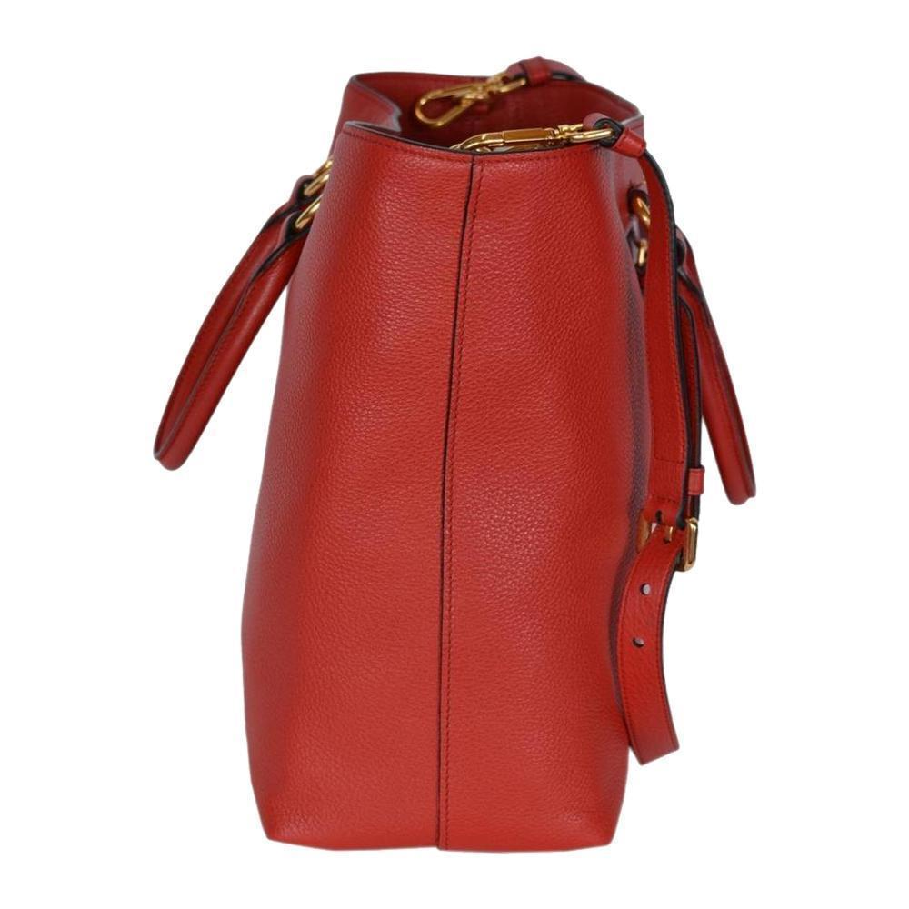 Prada Vitello Phenix Red Leather Shopping Tote 1BG865 at_Queen_Bee_of_Beverly_Hills