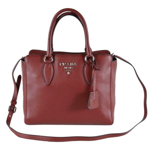 Prada Vitello Phenix Rubino Burgundy Small Crossbody Satchel Handbag 1BA205 at_Queen_Bee_of_Beverly_Hills