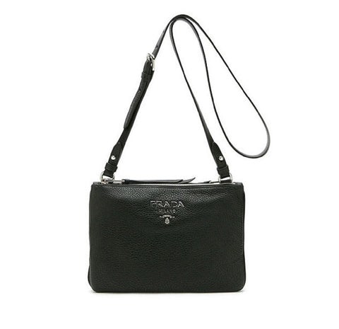 Prada Women's Black Vitello Phenix Crossbody 1BH046 at_Queen_Bee_of_Beverly_Hills
