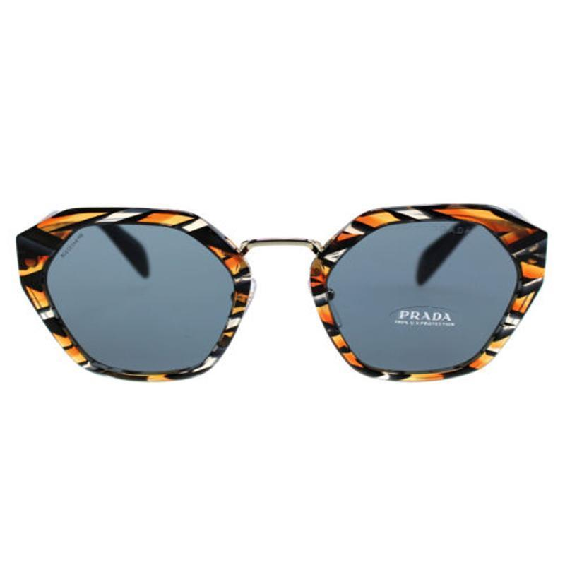 Prada Women's Classic Tiger Striped Luxury Sunglasses SPR04T at_Queen_Bee_of_Beverly_Hills