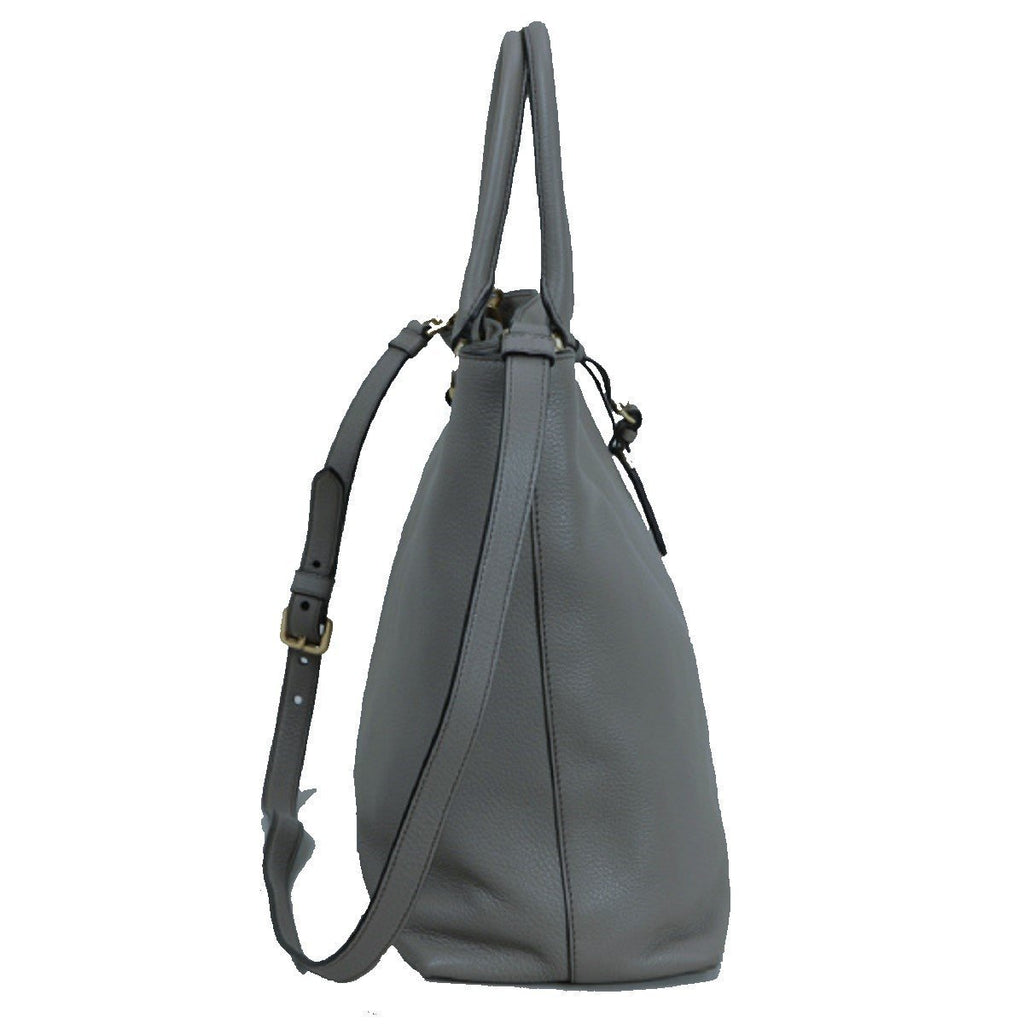 Prada Women's Gray Vitello Phenix Shopping Tote Top Handle Bag 1BG865 at_Queen_Bee_of_Beverly_Hills