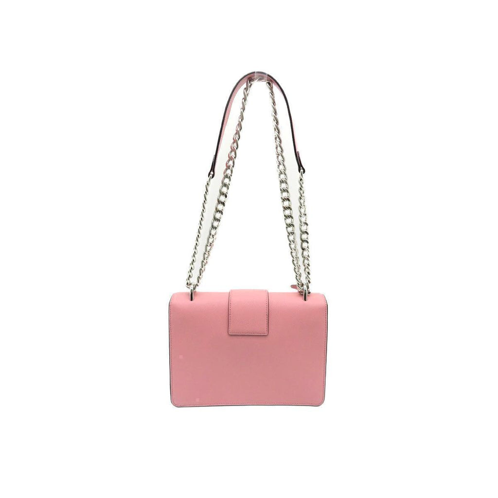 Prada Women's Petal Pink Saffiano Leather Cross Body Handbag at_Queen_Bee_of_Beverly_Hills