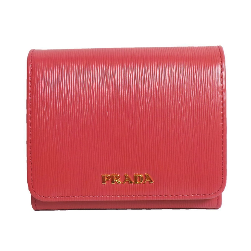 Prada Women's Wallet Vitello Move Bi Fold Pink 1MH176 at_Queen_Bee_of_Beverly_Hills