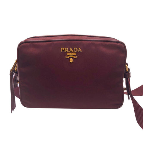 Prada Womens Burgundy Granato Tessuto Nylon Leather Crossbody Bag 1BA104 at_Queen_Bee_of_Beverly_Hills