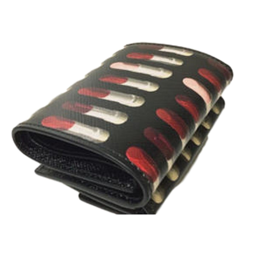 Prada Womens Saffiano Print Lipstick Leather Envelope Snap Wallet 1MH021 at_Queen_Bee_of_Beverly_Hills