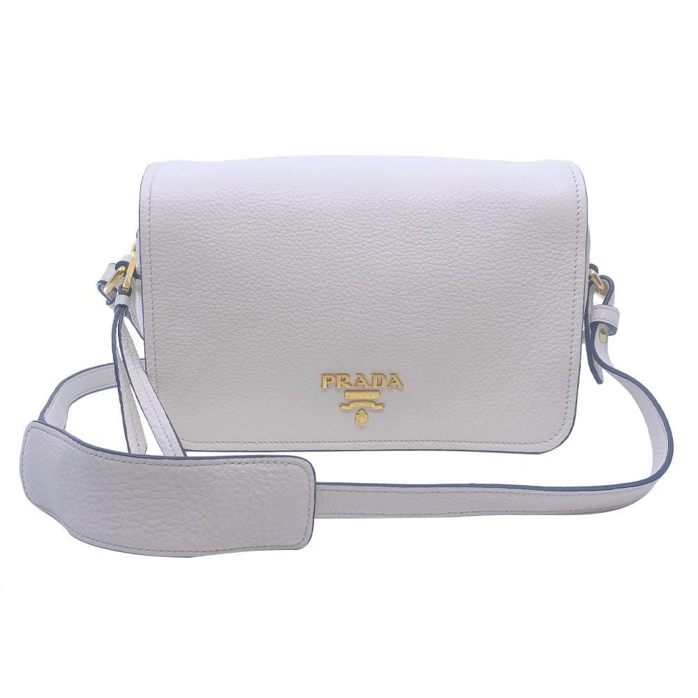 Prada Womens Vitello Phenix Shoulder Flop Ivory Leather Crossbody Bag 1BD163 at_Queen_Bee_of_Beverly_Hills