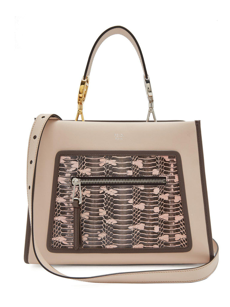 Runaway Small Vitello Century Leather Snake Skin Satchel Handbag 8BH344 at_Queen_Bee_of_Beverly_Hills
