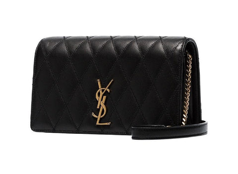 Saint Laurent Angie Crossbody Bag in Black Quilted Lambskin 568906 at_Queen_Bee_of_Beverly_Hills