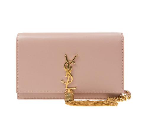 Saint Laurent Classic Monogram Kate YSL Small Tassel Pale Pink Leather 452159 at_Queen_Bee_of_Beverly_Hills