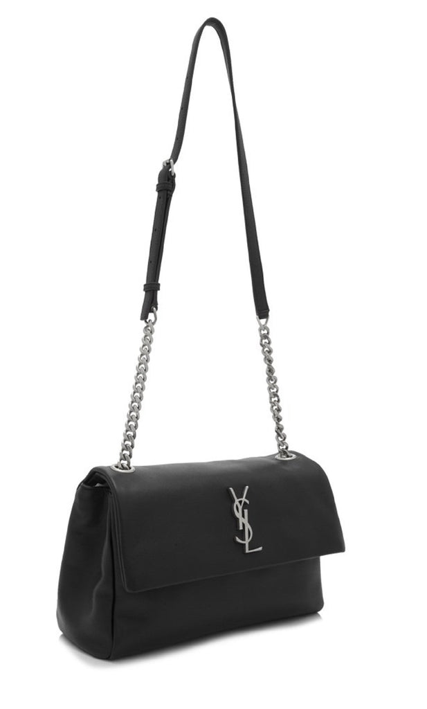 Saint Laurent Classic Monogramme Medium West Hollywood Bag Black Leather 471487 at_Queen_Bee_of_Beverly_Hills