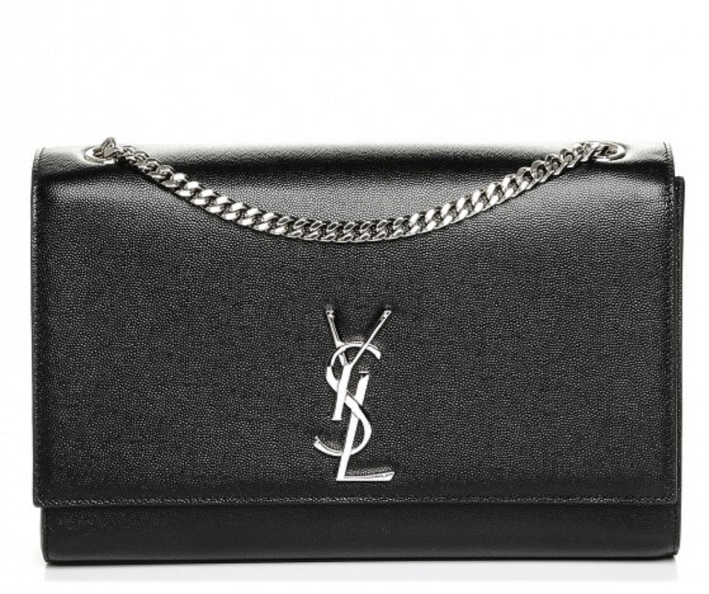 Saint Laurent Grain de Poudre Kate Classic Monogram Large Black 446752 at_Queen_Bee_of_Beverly_Hills