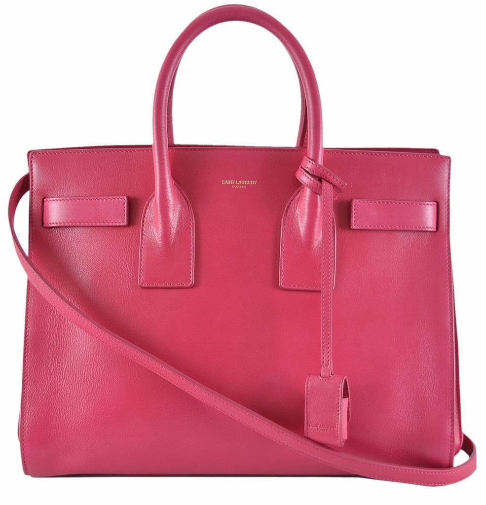 Saint Laurent Sac de Jour YSL Bubblegum Pink Leather Box Laque Satchel 355153 at_Queen_Bee_of_Beverly_Hills