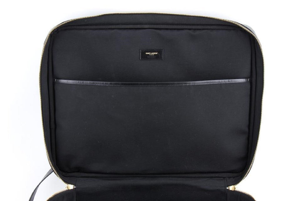 Saint Laurent Toile Classic Monogram Rodeo Logo Briefcase Luggage 343690 at_Queen_Bee_of_Beverly_Hills