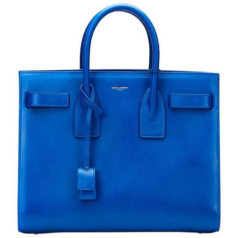 Saint Laurent Womens YSL Bag Mini Sac Jour Blue Majorelle Handbag  355153 at_Queen_Bee_of_Beverly_Hills