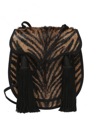 Saint Laurent YSL Bag Opium 2 Pony Hair Brown Zebra Striped Handbag 438337 at_Queen_Bee_of_Beverly_Hills
