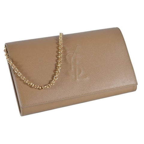 Saint Laurent YSL Belle De Jour Beige Leather Wallet on Chain Crossbody 559075 at_Queen_Bee_of_Beverly_Hills