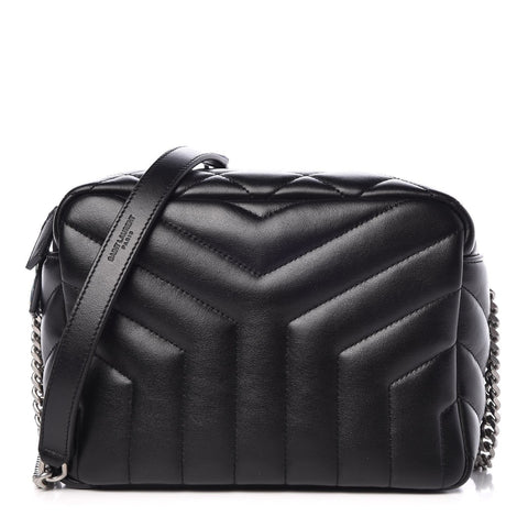 Saint Laurent YSL Black Quilted Matelasse Loulou Small Leather Bowling Bag 574102 at_Queen_Bee_of_Beverly_Hills