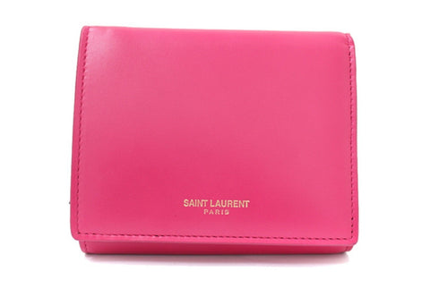 Saint Laurent YSL Bubblegum Pink French Flap Wallet  Gold Hardware 362673 at_Queen_Bee_of_Beverly_Hills