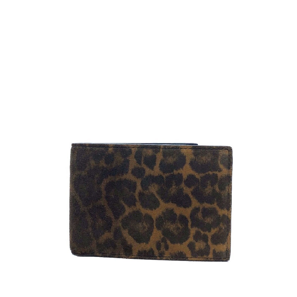 Saint Laurent YSL Leopard Boxeur Washed Suede and Leather Wallet 360959 at_Queen_Bee_of_Beverly_Hills