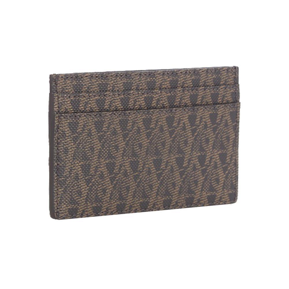 Saint Laurent YSL Unisex Brown Monogram Toile Rodeo Credit Card Case 375946 at_Queen_Bee_of_Beverly_Hills