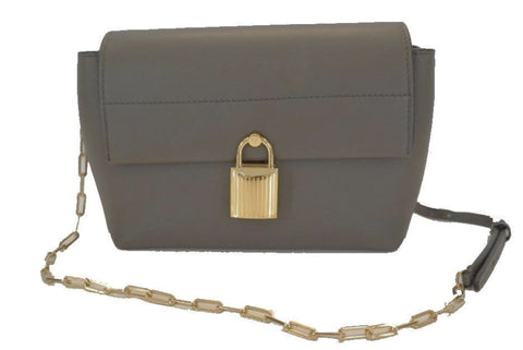 Tom Ford Leonica Padlock Mini Cross body Handbag Graphite Gray Leather L0742TZ at_Queen_Bee_of_Beverly_Hills
