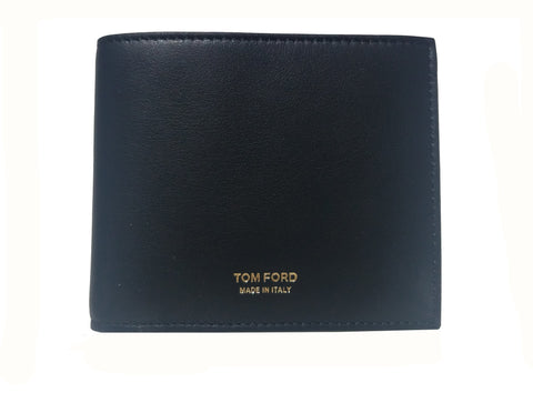 Tom Ford Men's Black Leather Billfold Bifold Wallet Y01310 at_Queen_Bee_of_Beverly_Hills