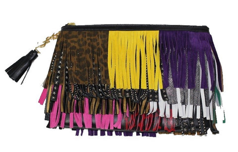 YSL Saint Laurent Pouch New Joulie Multicolor Fringes 403418 CWU21 at_Queen_Bee_of_Beverly_Hills