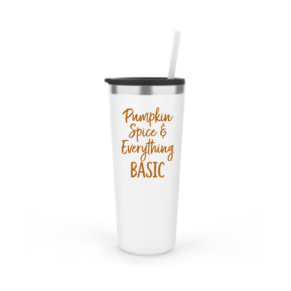 Pumpkin Spice & Everything Basic Stainless Steel Tumbler