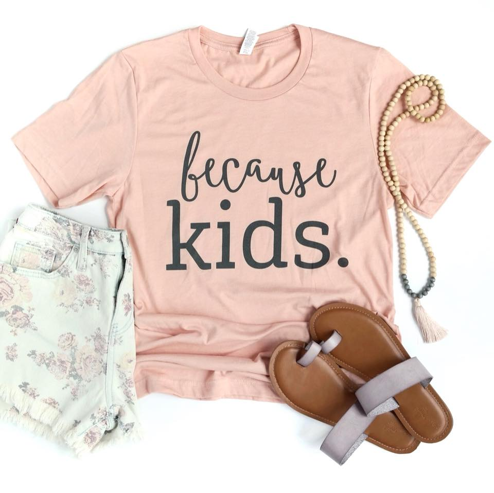 Because Kids™ Tee - Heather Peach