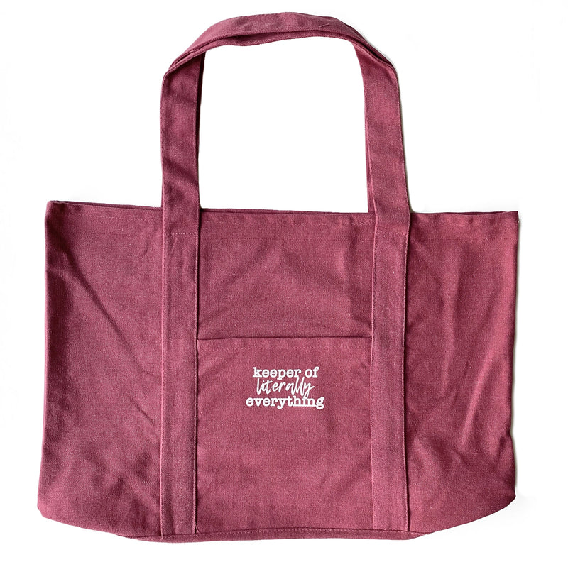 Keeper of Literally Everything Tote - Crimson