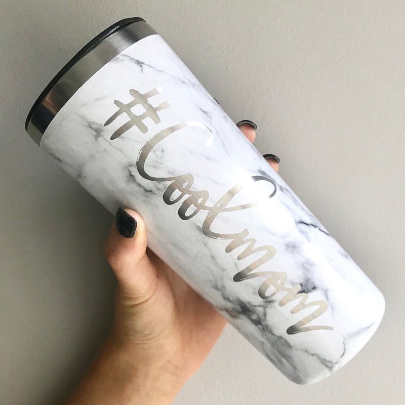 #Coolmom Stainless Steel Tumbler - Marble