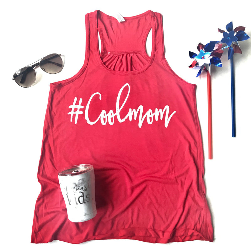 #Coolmom Racerback Tank Top