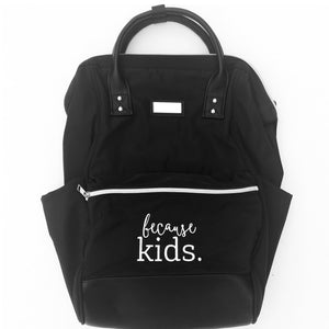 Because Kids Backpack - Black