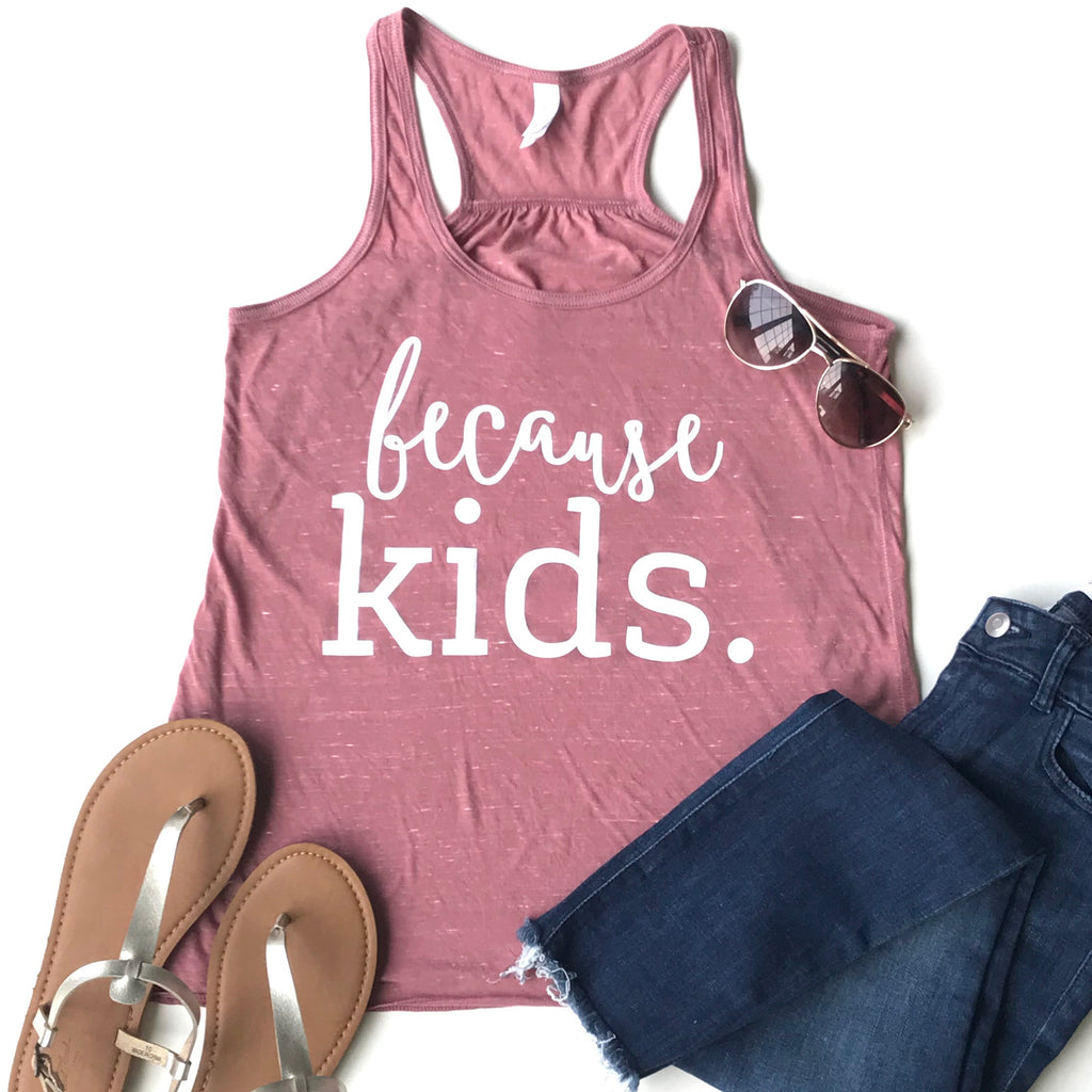 Because Kids Racerback Tank Top