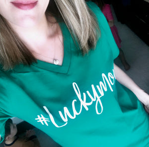 #Luckymom T-shirt - Kelly Green