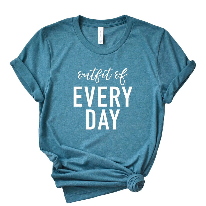 Outfit of Every Day T-shirt - Heather Deep Teal