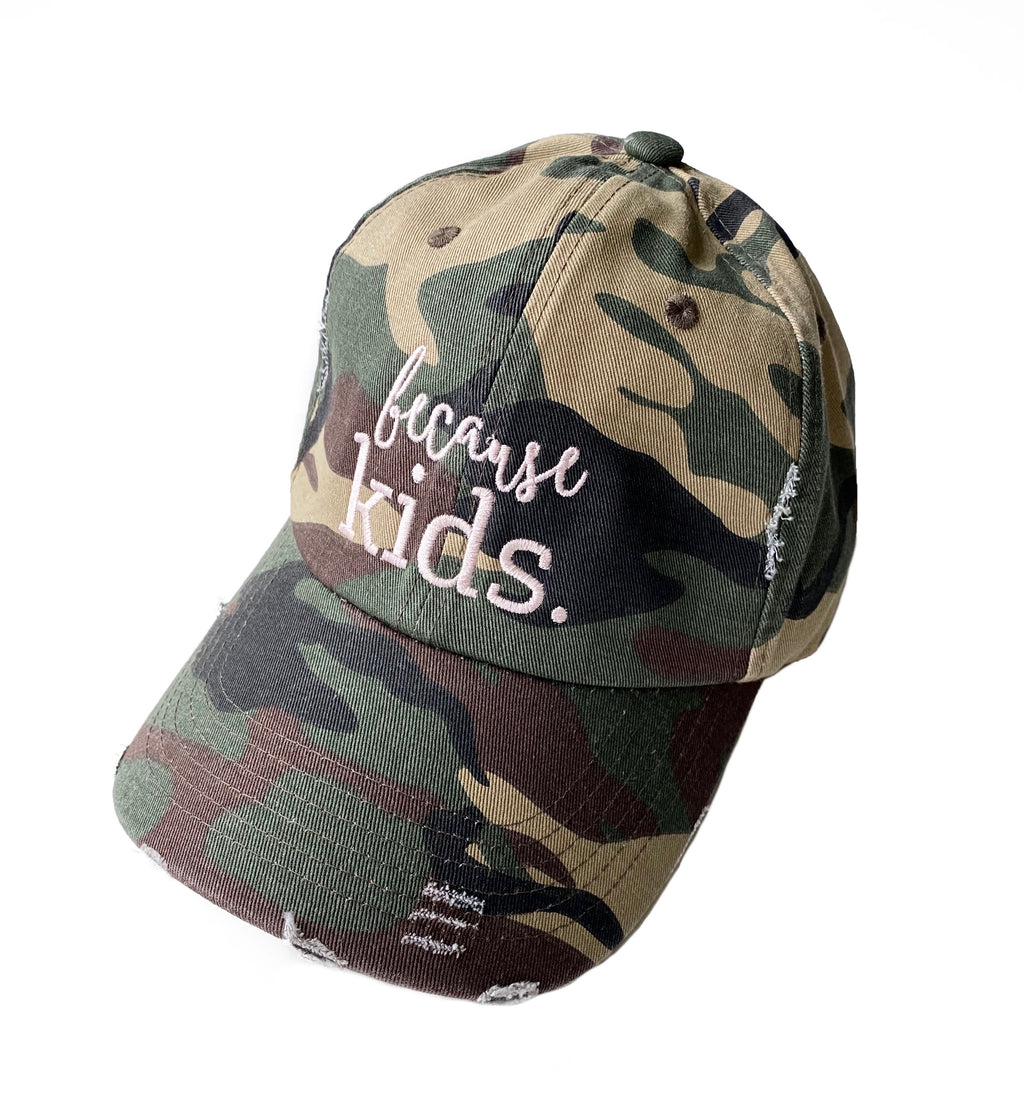 Because Kids™ Hat - Distressed Camo