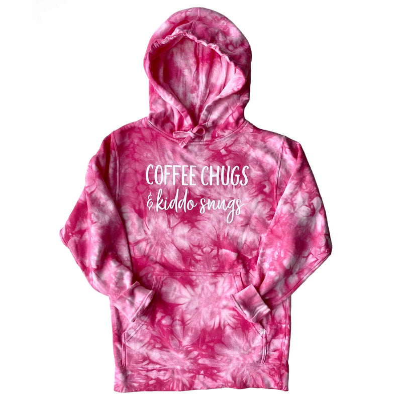 Coffee Chugs & Kiddo Snugs Tie Dye Hoodie