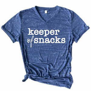 Keeper of Snacks Tee - Navy Marble
