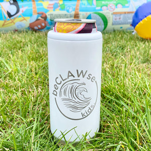 BeCLAWse Kids Stainless Steel Skinny Can Cooler - Glitter Moonrock