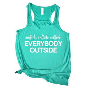 Everybody Outside Tank - Teal