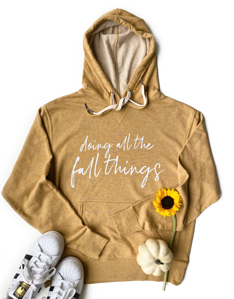 Doing All The Fall Things Hoodie - Harvest Wheat