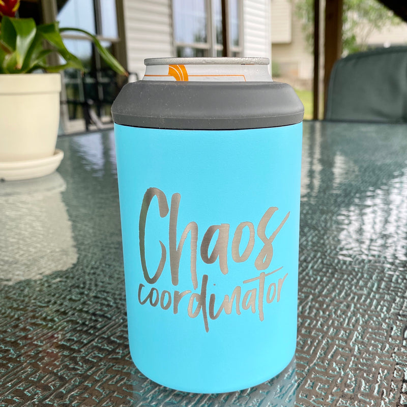 Chaos Coordinator Stainless Steel Can Cooler - Purist Blue