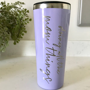 Doing All The Mom Things Stainless Steel Tumbler - Lavender